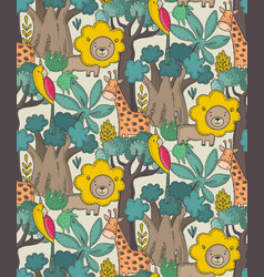 Seamless pattern with cartoon african vector