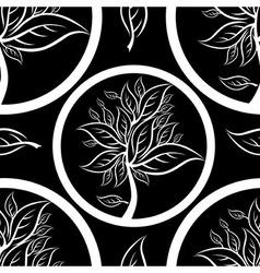 Seamless tree pattern 01 vector