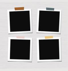 set photo frames vector image