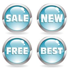 set sale button vector image