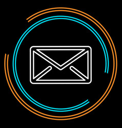 simple mail thin line icon vector image