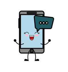 Smartphone with speech bubbles icon vector