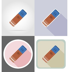 Stationery flat icons 15 vector