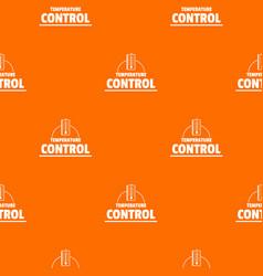 Temperature control pattern orange vector