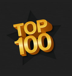 Top 100 hundred golden words vector