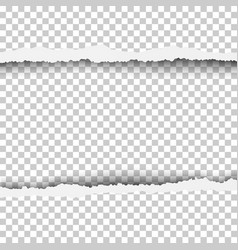 torn snatched window in sheet of paper vector image