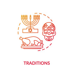 Tradition red concept icon vector