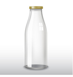 Traditional glass milk bottle eps-10 vector
