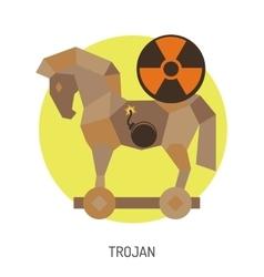 Trojan Horse Icon vector