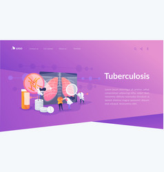 Tuberculosis landing page concept vector