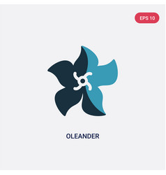 two color oleander icon from nature concept vector image