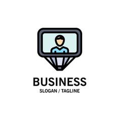User profile id login business logo template flat vector