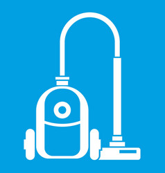 vacuum cleaner icon white vector image