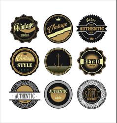 Vintage labels black and brown set 1 vector