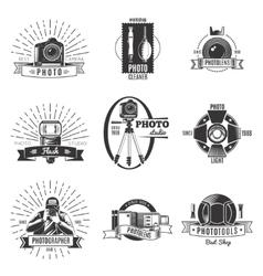 Vintage Photographer Label Set vector image vector image