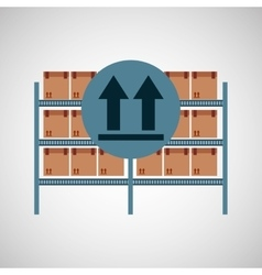 Warehouse box fragil symbol vector