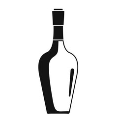 Wine bottle icon simple style vector