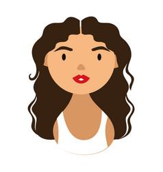 Woman character with long hair national hispanic vector