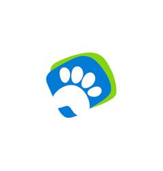 pet dog foot step logo vector image