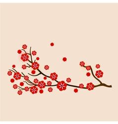 Red sakura vector image vector image