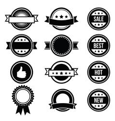 Retro round badges vintage labels set - vector image vector image