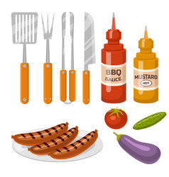 barbecue home or restaurant rarty dinner products vector image vector image