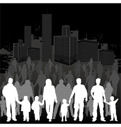 collect family silhouettes vector image vector image