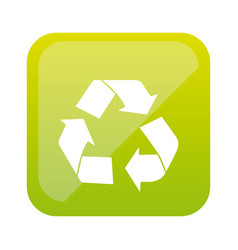 color square with recycling icon vector image vector image