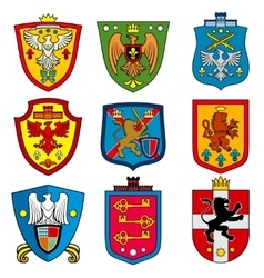 Family dynasty medieval royal coat of arms on vector image