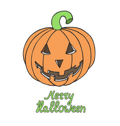 Halloween pumpkin isolated on white background vector