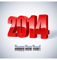 New 2014 year glossy figures vector image