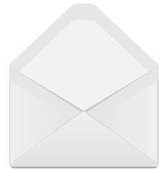 open envelope vector image