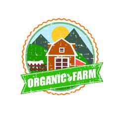 farm house concept logo template with farm vector image vector image