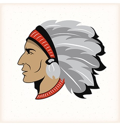 Indian head mascot vector image vector image