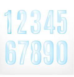 set of abstract numbers vector image