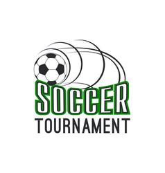 soccer football league tournament ball icon vector image vector image