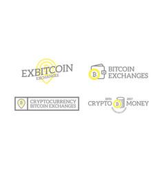 unique retro vintage digital money and bitcoin vector image