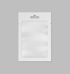 white pocket bag with transparent window and hang vector image vector image