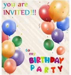 Birthday celebration card vector image vector image