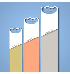 Progress background of stylized clouds vector image vector image