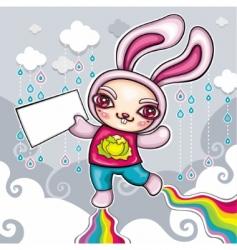 super rabbit vector image vector image