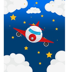An airplane at the sky vector