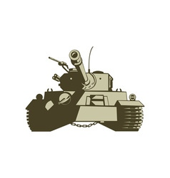 Army Tank Retro vector