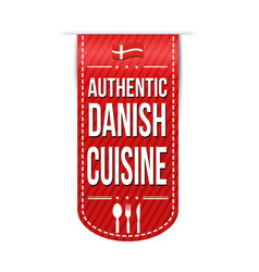 authentic danish cuisine banner design vector image