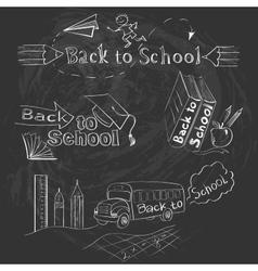 Back to School Calligraphic Designs Label Set vector image