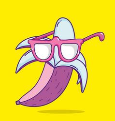 Banana pop art vector