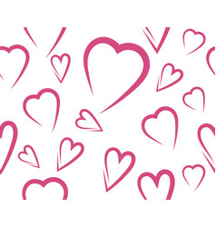 beauty love seamless vector image