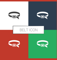 Belt icon white background vector