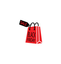 black friday handbag with clipart gifts vector image
