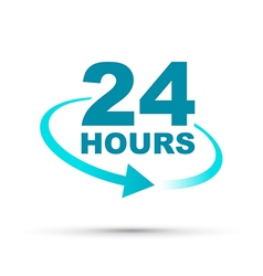 Blue 24 hours vector
